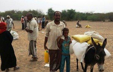 المساعدات الغذائية تصل إلى اليمنيين في الحديدة