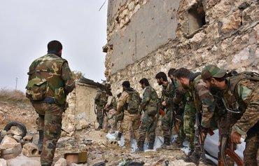 الميليشيات العراقية المدعومة من الحرس الثوري الاسلامي الايراني تدعم النظام السوري