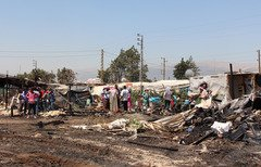 Refugee camp fires fuel Lebanese debate about Syrians' return