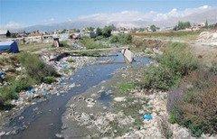 تظاهرات ساکنین بقاع در رابطه با آلودگی رودخانه لیطانی