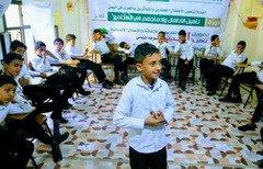 بچه سربازان پیشین در یمن بازپروری می شوند