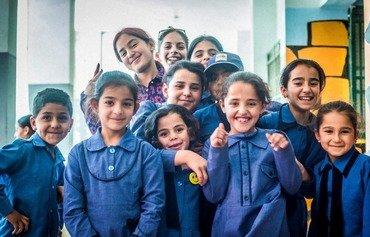 یونیسف به هدف افزایش حضور دانش آموزان در مدارس اردن برنامه اجرا می کند