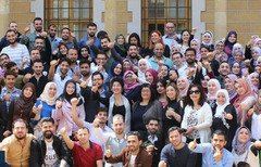 Hundreds of Syrian students, including those pictured here, have been awarded scholarships and financial assistance to complete their university education in Lebanon. [Photo courtesy of the University Students Forum in Lebanon]