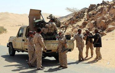 قوات النخبة الشبوانية تداهم أوكار إرهابيين في المحافظة