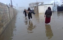 Syrian refugees in Lebanon hit by winter storm