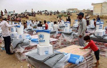 إنزالات جوية للتحالف العربي تدعم قبائل حجور