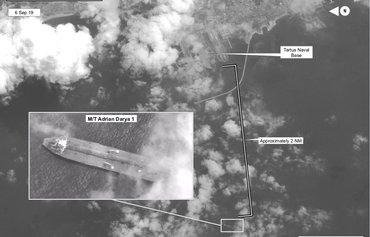 ابرنفتکش ایرانی به طرطوس سوریه رسید