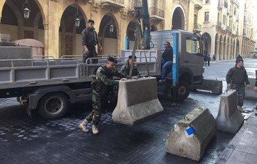 Beirut removes barriers to downtown area