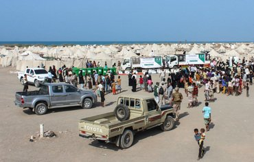 Saudi humanitarian relief flows into Yemen