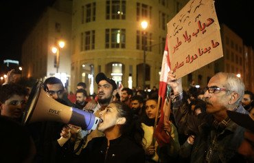 Lebanon protestors shun PM-designate's call for talks