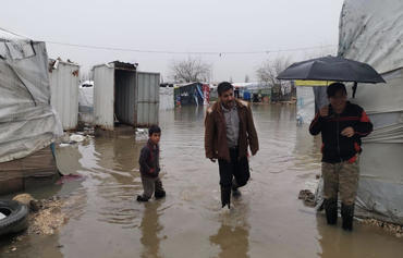 Bekaa Valley camps flooded in winter storms