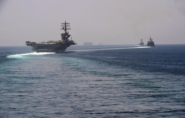 US aircraft carrier completes transit through Strait of Hormuz
