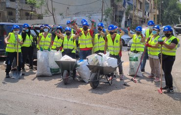 USAID-funded programme supports Beirut clean-up efforts